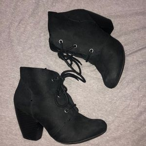 Black Rampage lace-up ankle Booties